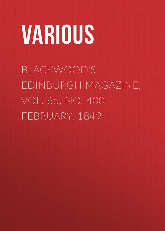обложка книги Blackwood's Edinburgh Magazine, Vol. 65, No. 400, February, 1849