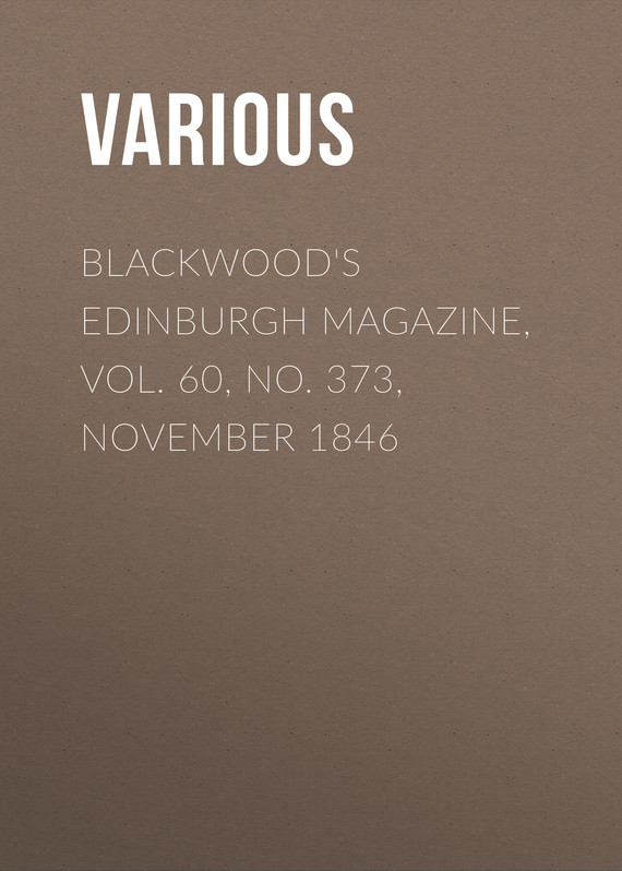 обложка книги Blackwood's Edinburgh Magazine, Vol. 60, No. 373, November 1846