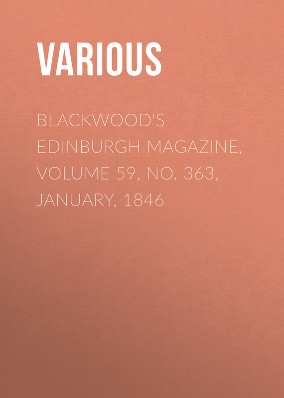 обложка книги Blackwood's Edinburgh Magazine, Volume 59, No. 363, January, 1846
