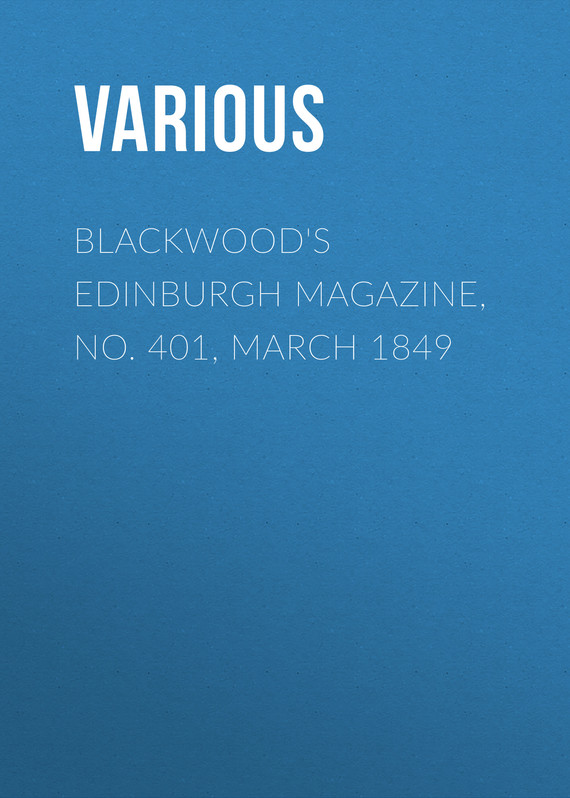 обложка книги Blackwood's Edinburgh Magazine, No. 401, March 1849