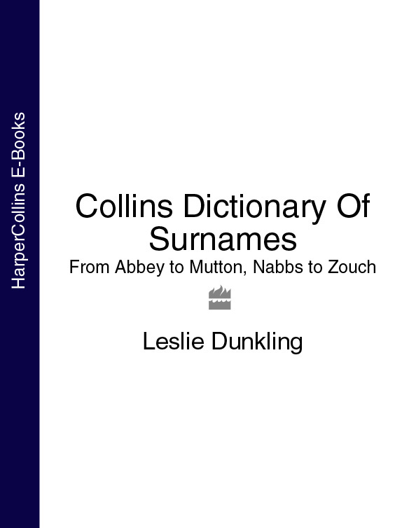 книга Collins Dictionary Of Surnames: From Abbey to Mutton, Nabbs to Zouch автора Leslie Dunkling