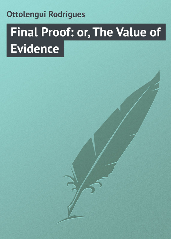 обложка книги Final Proof: or, The Value of Evidence