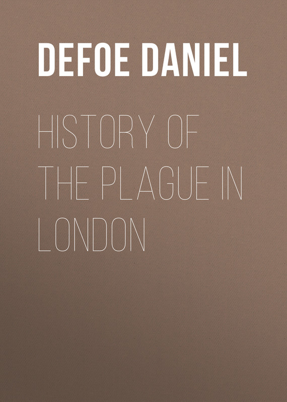 обложка книги History of the Plague in London