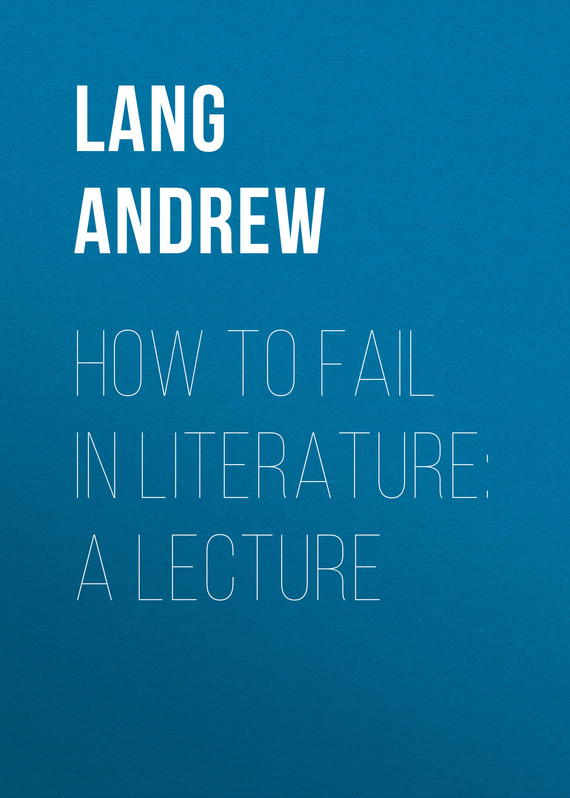 обложка книги How to Fail in Literature: A Lecture